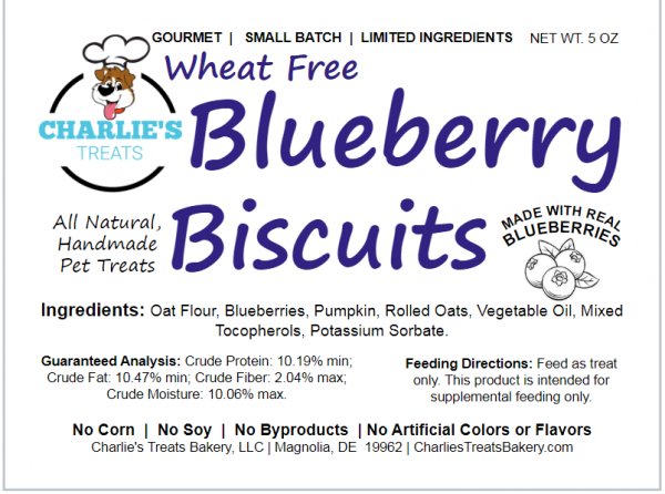 Blueberry Biscuits Small Bag Label