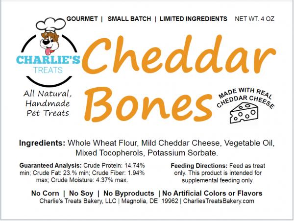 Cheddar Bones Small Bag Label
