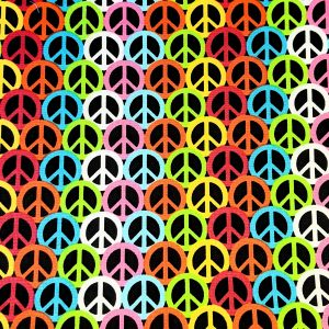 Retro Peace Sign Bandana
