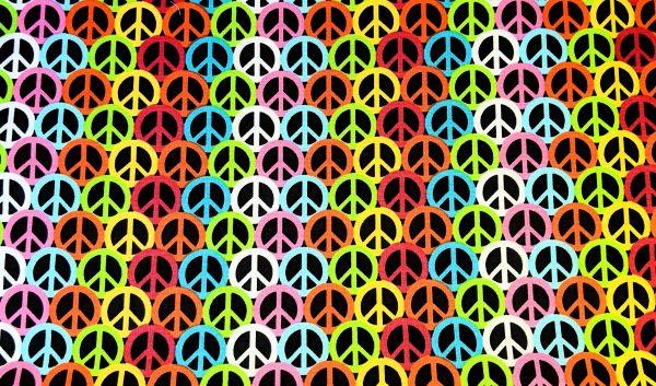 Retro Peace Sign Bandana