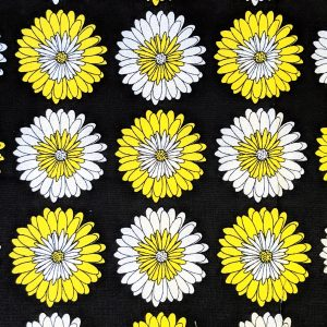 Yellow and White Flower Bandana