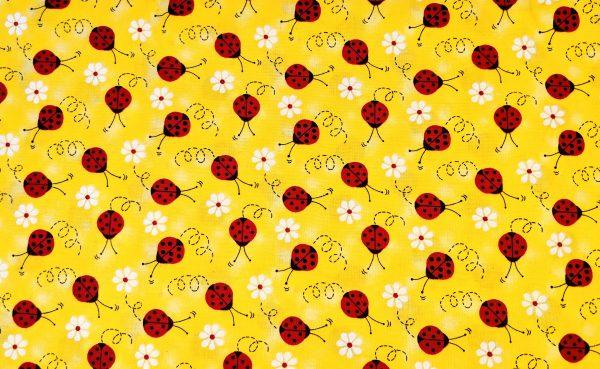 Lady Bug Bandana Yellow