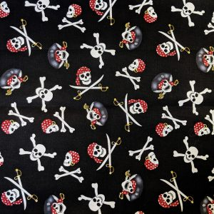 Pirate Skull Bandana Fabric