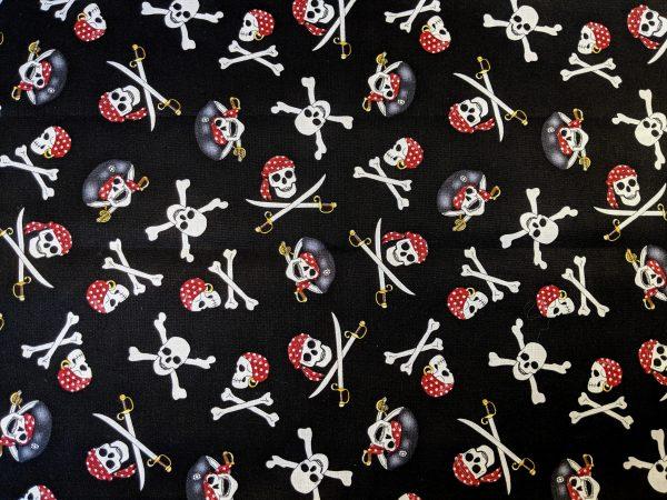 Pirate Skull Bandana Fabric