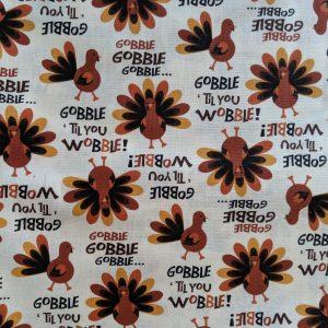 Gobble Til' You Wobble Thanksgiving Bandana