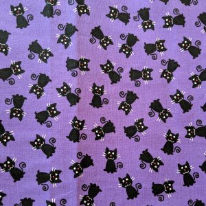 Black Cats on Purple Bandana