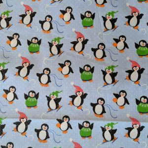 Sparkly Christmas Penguins Bandana