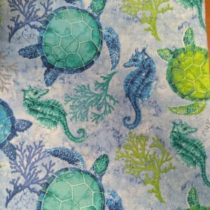 Sea Turtle & Seahorse Bandana