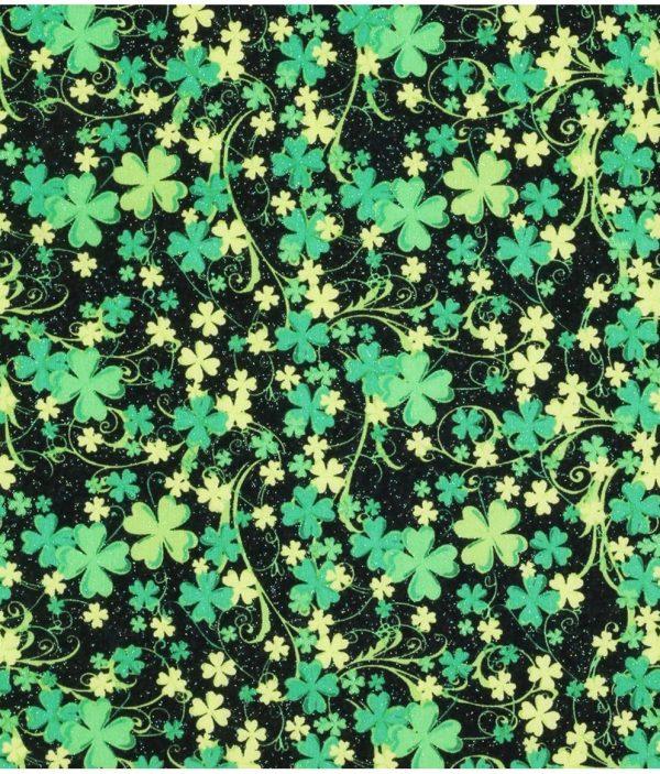 Sparkly Four Leaf Clover Bandana