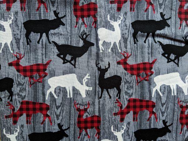 Deer on Gray Wood