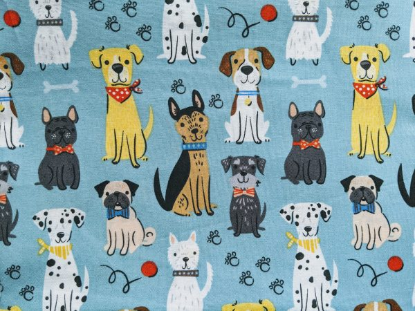 Dogs on Blue