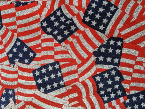 Glittery American Flags